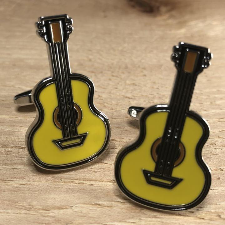 Acoustic Guitar Cufflinks