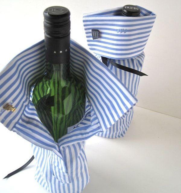 Dress Shirt Wine Bottle Bag