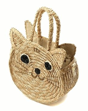 Wicker #Cat #Bag admired by our rattan furniture... | Wicker Blog wickerparadise.com