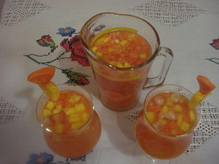 Sabrosa Bebida Tropical de Fruta
