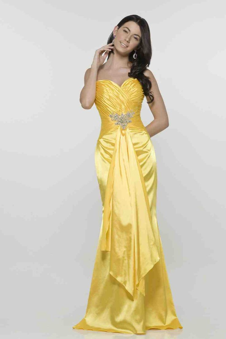 42 best yellow bridesmaid dresses images on Pinterest | Gelbes kleid ...