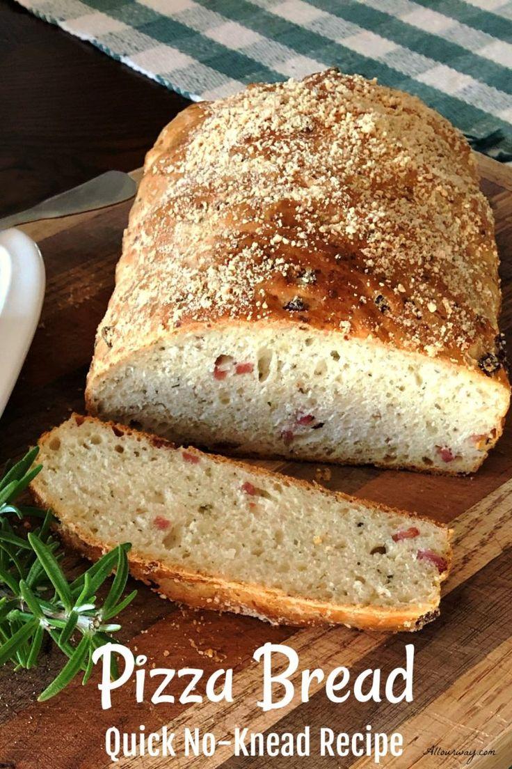 Parmesan Herb Pizza Bread No Knead