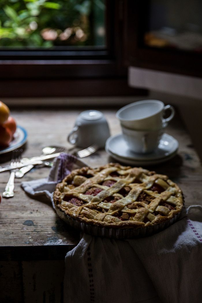 Plum & Amaretti Tart - From My Dining Table by Skye McAlpine