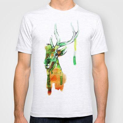 Deerface T-shirt by Laboratorio Unico - $22.00