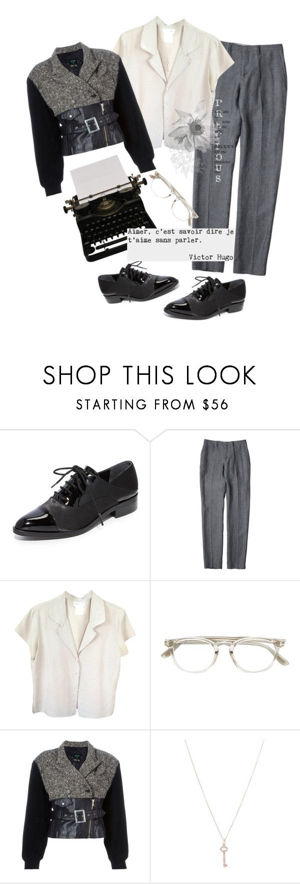 """""""Unspoken"""" by nicolesynth ❤ liked on Polyvore featuring Sigerson Morrison, agnès b., Tom Ford, Jean-Paul Gaultier and Tiffany & Co."""