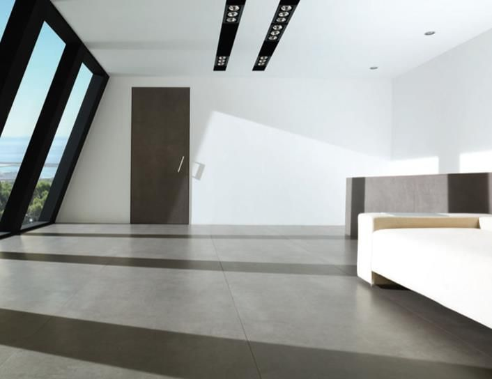 Urbatek XLight Code Coal   Concrete Look Slimline Porcelain Slabs   Available at Ceramo