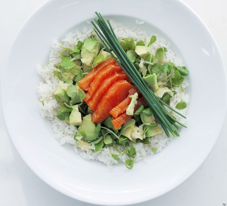 Sashimi di Salmone, Avocado e Riso Jasmine