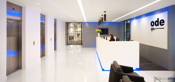 1000 images about office reception areas on pinterest for Modern engineering office design