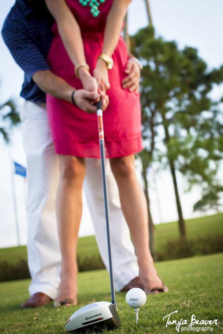 Chose something that is important to you as a couple...and enjoy it in your engagement session. These two love them some golf :)  TPC Sawgrass   Ponte Vedra Engagement Photos - TPC Engagement Photos - Tonya Beaver Photography001