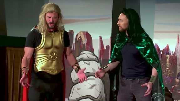 Entire cast of Thor puts on a budget live play for unsuspecting moviegoers