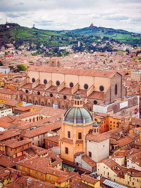 La Basilica di San Petronio, Bologna, Italia