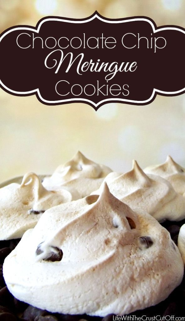 Chocolate Chip Meringue Cookies are light, delicious and so easy to make!