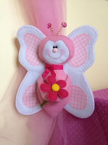 Felt and fabric buterfly