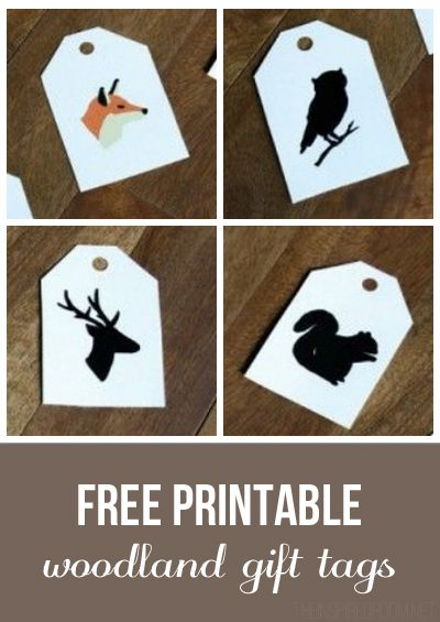 Free Printable Woodland Gift Tags