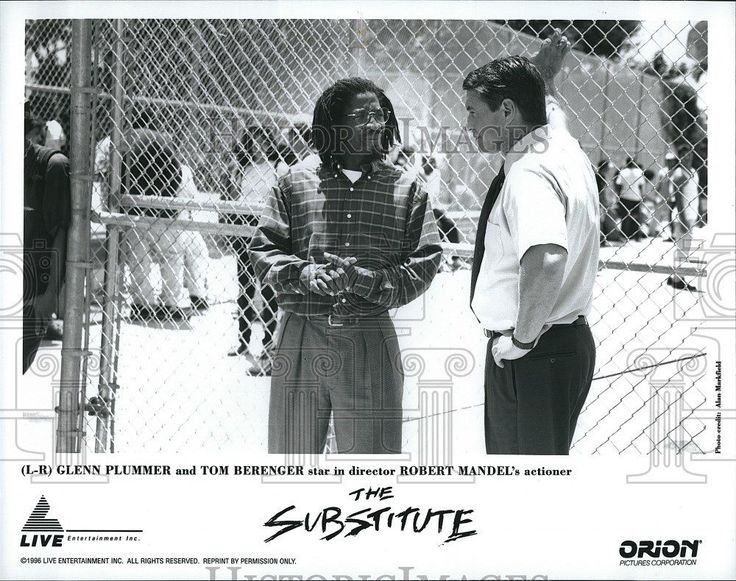 1996 Press Photo The Substitute Glenn Plummer Tom Berenger Robert Mandel