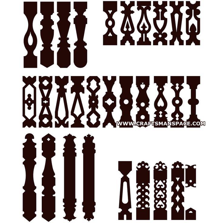 Sawn baluster patterns