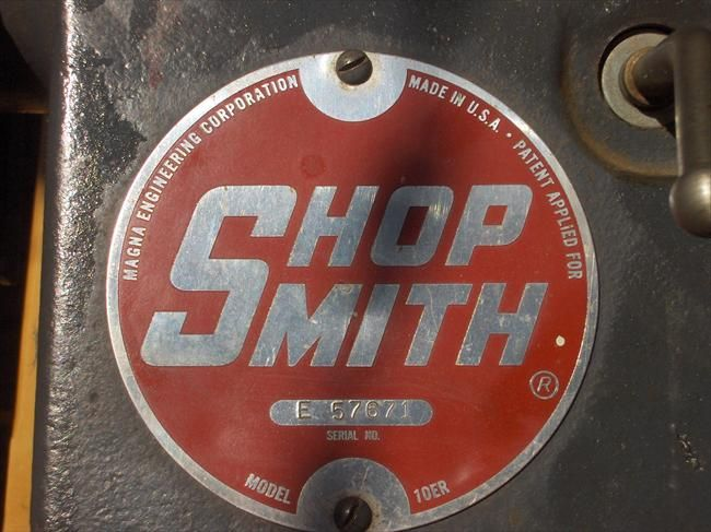 shop smith 10ER badge