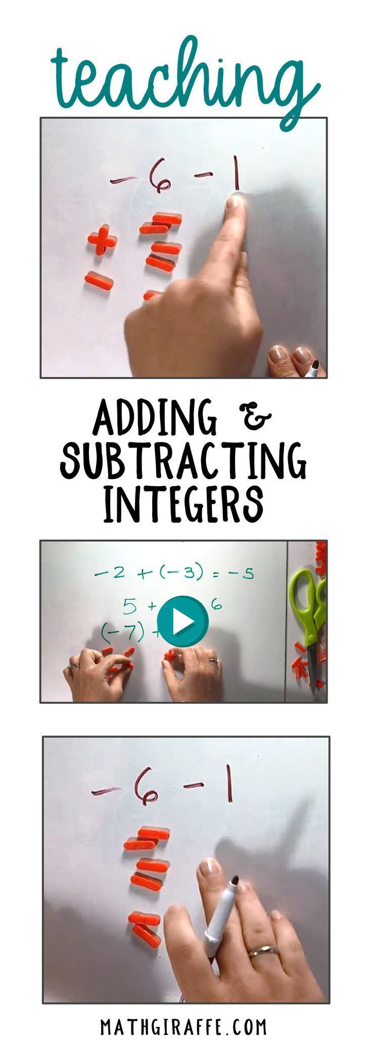 Adding And Subtracting Integers A Free Hands On Discovery Lesson Downloadable Wo Adding And Subtracting Integers Adding And Subtracting Subtracting Integers Inverse addition and subtraction