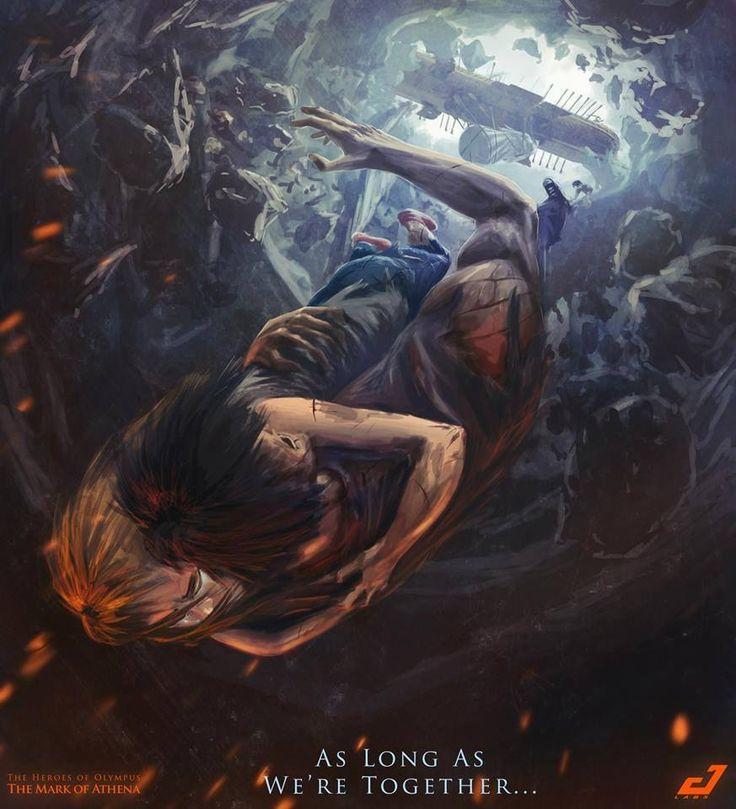 Percy and Annabeth falling into Tartarus... I'm so glad I finally read ... Percy And Annabeth Fall Into Tartarus