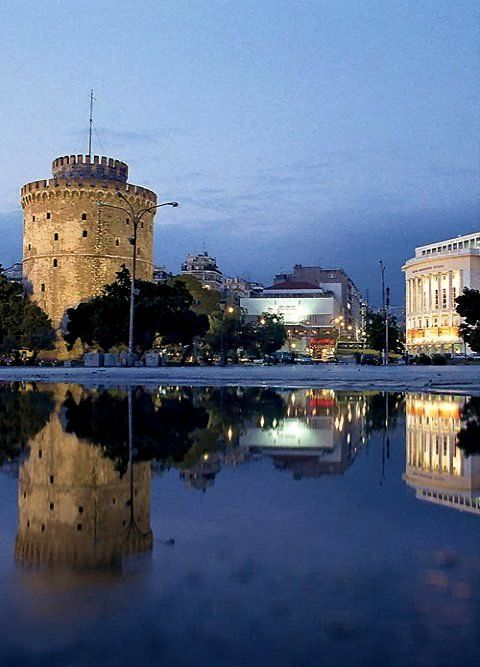White Tower of Thessaloniki at dusk, Greece | by EliaSargar