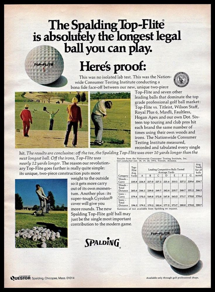 1972 Spalding Top-Flite #Golfing #GolfBall Lab Test Proof #1970s #Vintage Print #Ad #Spalding