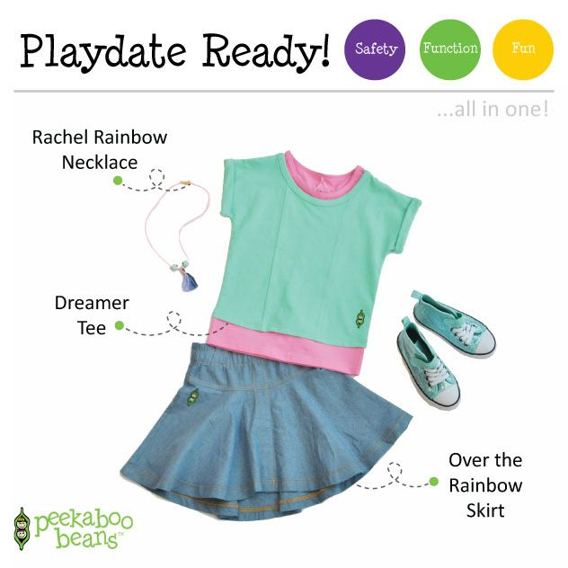 Girlie Bean! | Peekaboo Beans - playwear for kids on the grow! | Find your local Play Stylist or shop On-Vine at www.peekaboobeans.com | #PBplayfulpairings