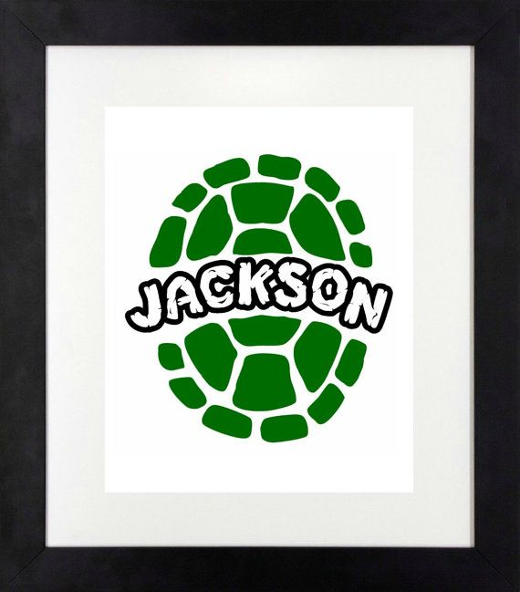 Your TMNT fan will love this personalized print! Available in your choice of black or green shell. Please remember to leave the name in buyers