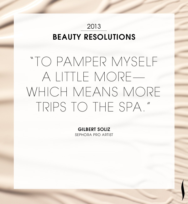 Our #2013 Beauty #Resolutions. What are yours? #Sephora Read more on The Glossy>
