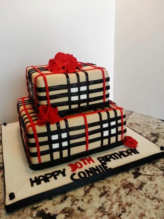 Burberry Birthday Cake Fashion Amp Diva Birthday Parties