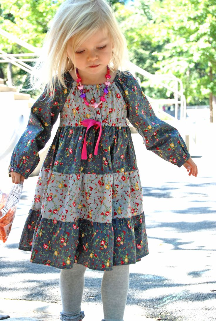 Astra Peasant Dress Sewing Pattern for Girls, Kids | 5Berries Sewing Patterns and DressPatterns4Girls