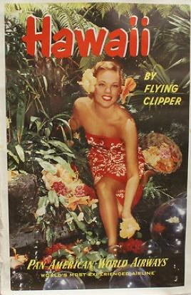 Hawaii - Pan Am #vintage #tiki #hawaii
