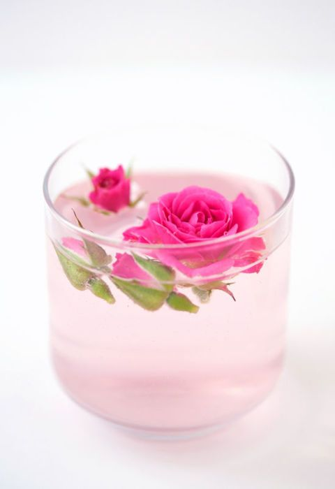 A rose-topped cocktail may look too pretty to actually drink, but one taste of this rosewater lemonade (that's also infused with vodka) will leave you coming back for more.