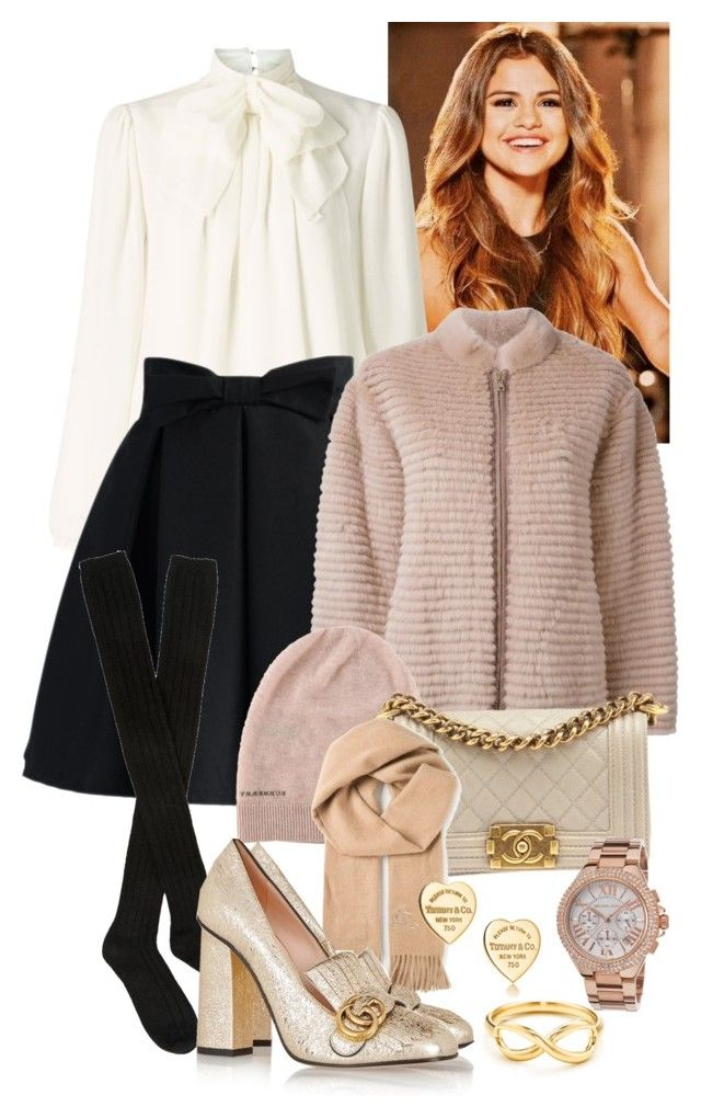 """Cute in pink"" by monikakrummradt ❤ liked on Polyvore featuring Somerset by Alice Temperley, Chicwish, Hansel from Basel, Liska, Burberry, Chanel, Gucci, Michael Kors and Tiffany & Co."