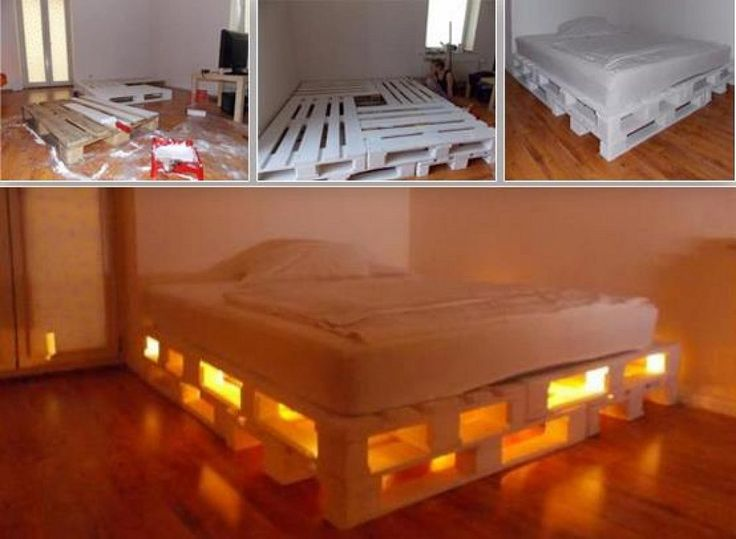 Decorar con palets divertido sostenible y barato for Base de cama matrimonial con tarimas