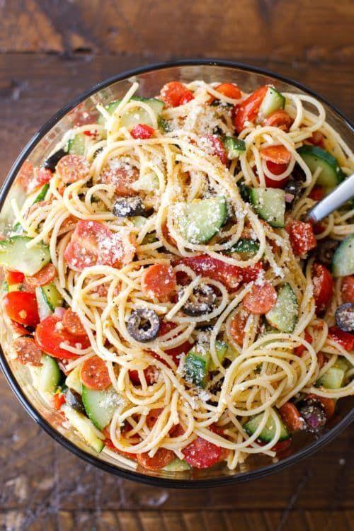 Spaghetti Salad Easy Italian Spaghetti Pasta Salad