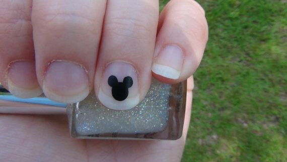 Mickey Mouse Inspired Nail Art Decals Set of 20 Vinyl Stickers Applique Manicure Pedicure Party Event Accessories. $ 1.99, via Etsy.