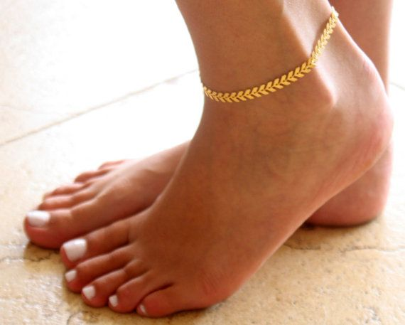 real deal on bracelet body plated anklet ankle beach lovelyaurashop etsy jewelry dainty amazing gold chain shop beaded boho