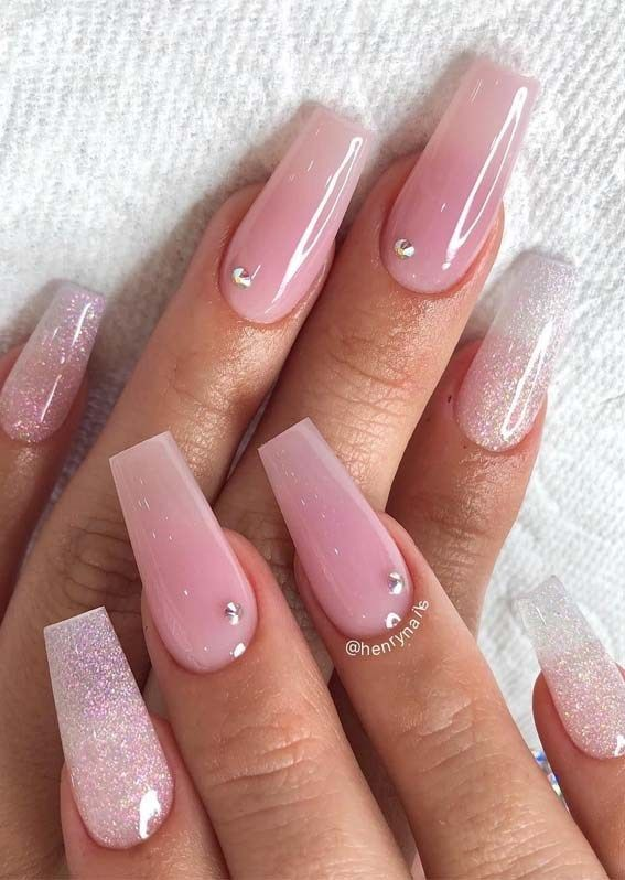 Cutest Pink Long Nail Arts Images For Every Woman In 2019 Soft Pink Nails Cute Pink Nails Pink Nail Designs
