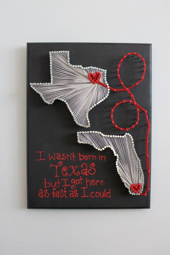 Custom Two States String Art 9x12 by MadeOfTheStars on Etsy, $40.00 I could possibly do Ohio and Connecticut