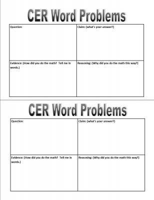 CER Graphic Organizer from Tales of a Traveling Teacher on TeachersNotebook.com -  (4 pages)  - My students were struggling to write effectively using the CER (claim, evidence, reasoning) format so I made this quick graphic organizer.