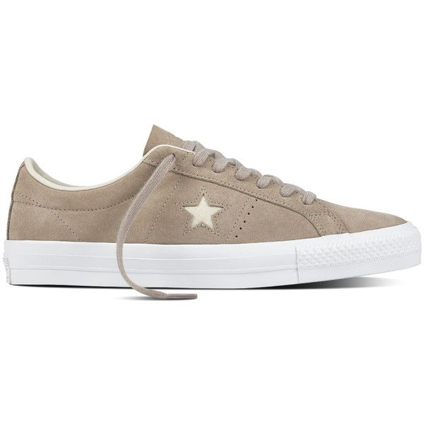 One Star Pro CF Suede - Converse EU: IE / DK / FI (€65) via Polyvore featuring shoes, suede shoes, star shoes et suede leather shoes