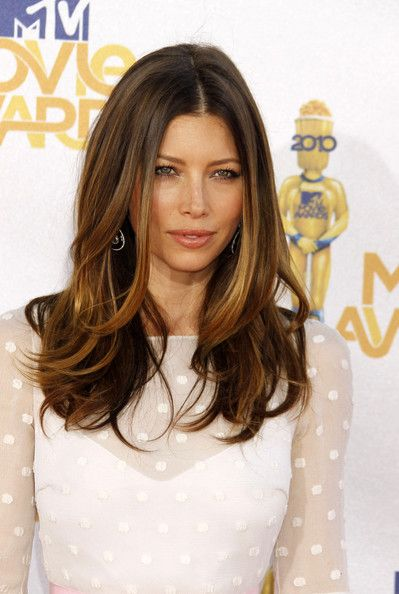 Jessica Biel - thin hair cut :)     <3 it and color