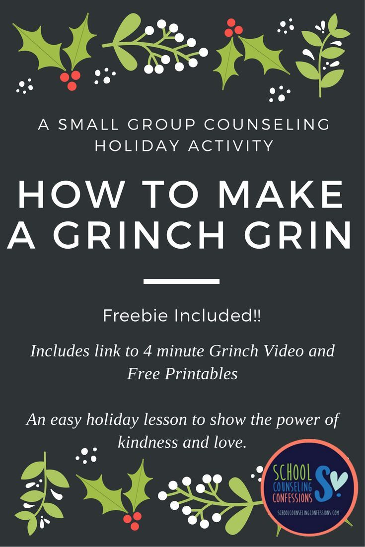 How to Make a Grinch Grin lesson plan for small groups. Includes free download and video!