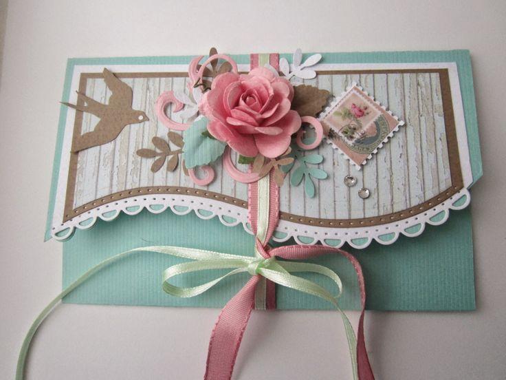Поделки из сундучка: Романтичный конверт.