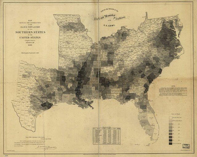 1861 map of US slavery - kottke.org