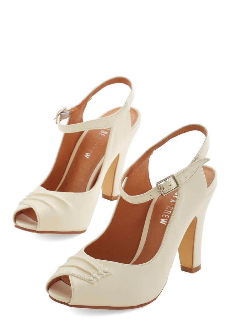 Heels - Say It With Sophistication Heel in Ivory