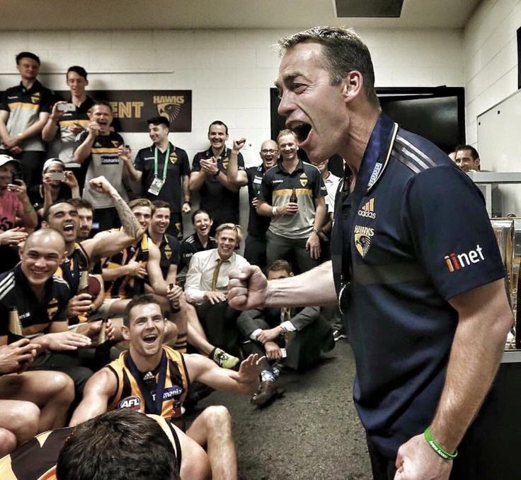 Love this photo! In the rooms after the 2015 Grand Final win