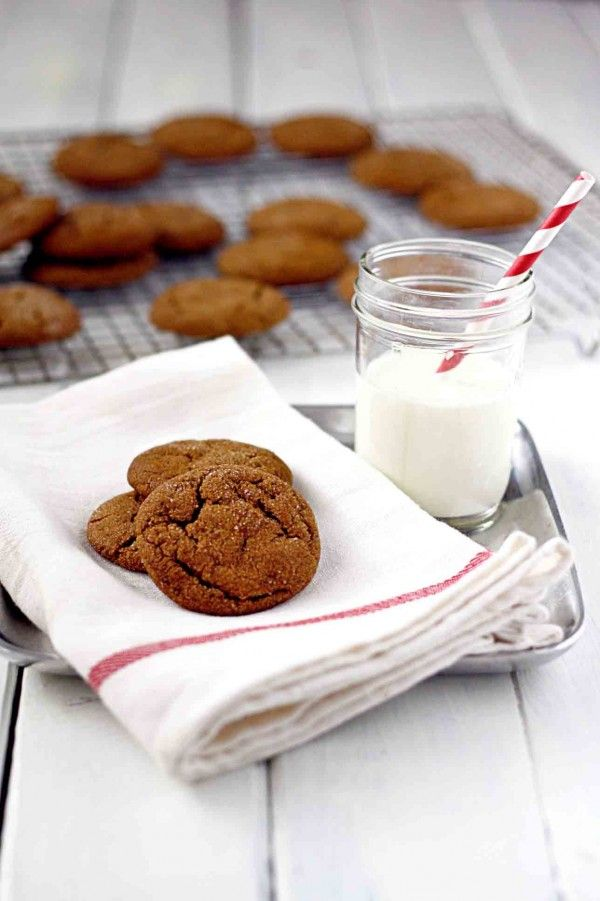 The best soft and chewy Molasses Cookie Recipe EVER!