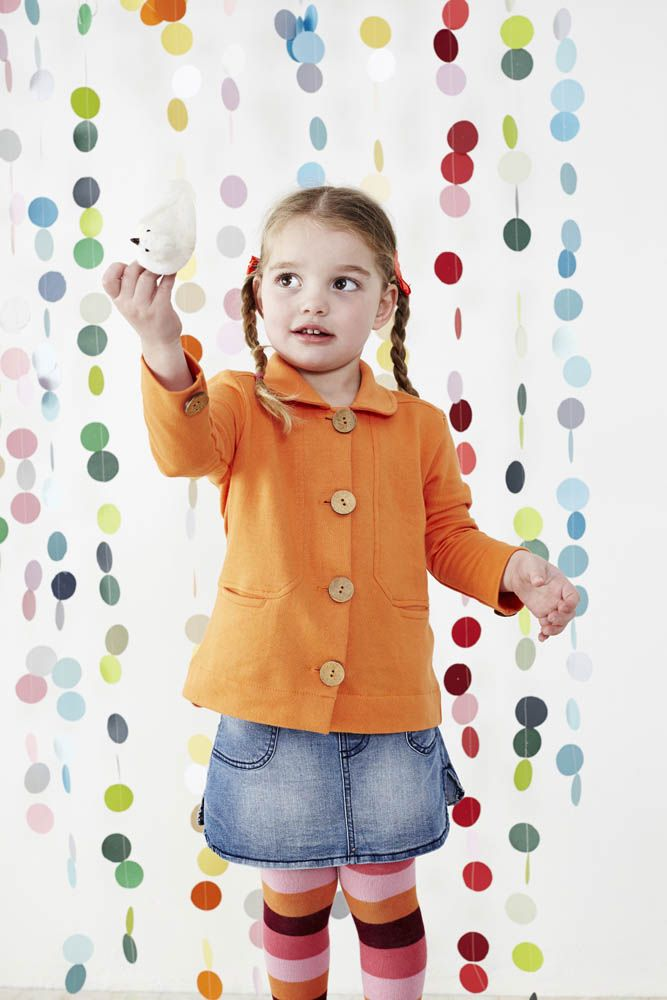 Orange Button Jacket - Baobab Clothing: Colour Drop, Photo Style, Photo Backgrounds