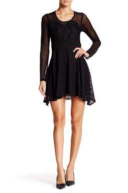 Abaje Illusion Yoke Lace Dress